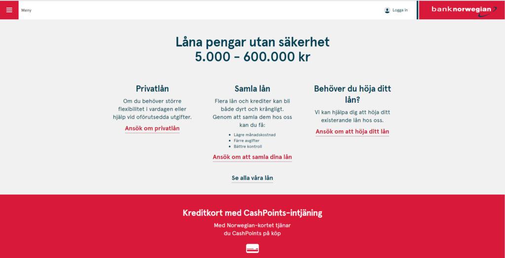 bank-norwegian-startpage